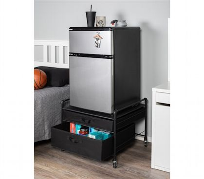 The Fridge Stand Supreme Drawer Organization Black Pipes