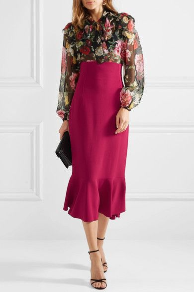NWT Who What Wear Womens Fluted Midi Skirt