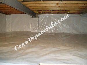 12 Mil Vapor Barrier Silverback 13 4 X50 Crawl Space Encapsulation Crawl Space Insulation Finishing Basement