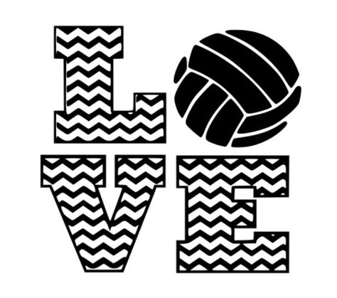 Items similar to Chevron Volleyball Love .svg, dxf cutting file vinyl or paper on Etsy
