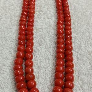 Coral rondelle beads set 5 strands