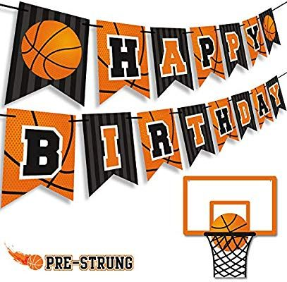 Amazon Com Levfla Basketball Happy Birthday Banner Slam Dunk Party Decoration Supplies Kids Happy Birthday Banners Happy Birthday Basketball Basketball Party