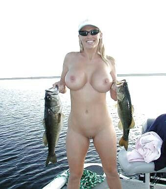 Hot women fishing naked