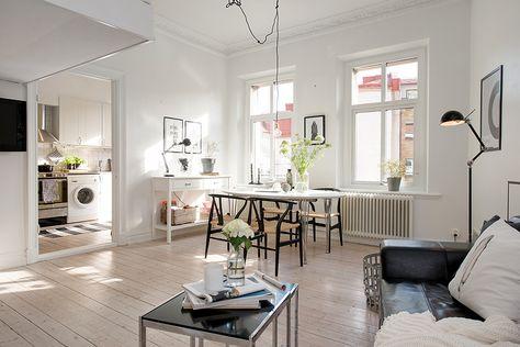 Moderne Wohnung Minimalismus-Möbel Design Weiß Minimalismus - geraumige und helle loft wohnung im herzen der grosstadt