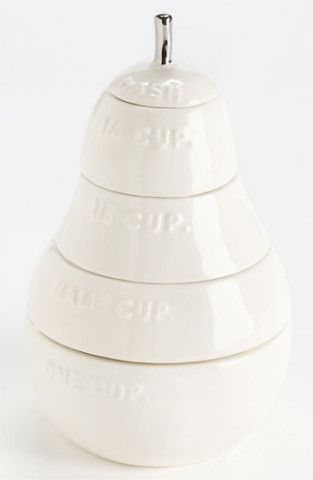 White Pear Measuring Cups