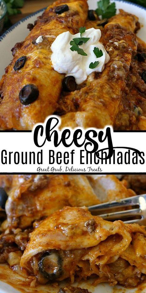 Cheesy Ground Beef Enchiladas