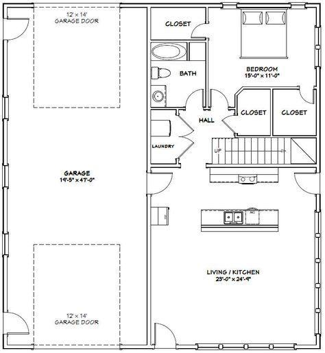 44x48 House 44x48h3e 1 574 Sq Ft Excellent Floor Plans