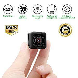 Mini Telecamera Spia,1080P Portatile Senza Fili Telecamera Nascosta con Visione Notturna Microcamere Spia con Rilevamento del Movimento Videocamera Sorveglianza