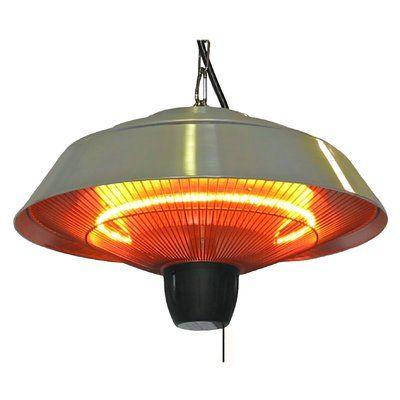 Dual Power 1500 Watt Electric Hanging Patio Heater In 2021 Patio Heater Fire Sense Patio Heater Infrared Heater