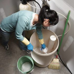 Replace A Water Softener Resin Bed Plumbing Problems Well Water System