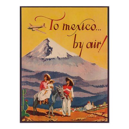 Bullfighter 1930s Mexican Tourism Vintage Style Travel Poster 16x24