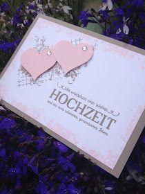 Hochzeitskarten, schlicht, einfach und schnell gemacht mit doppelt gemoppelt, Herz und Hintergrundstempelsets