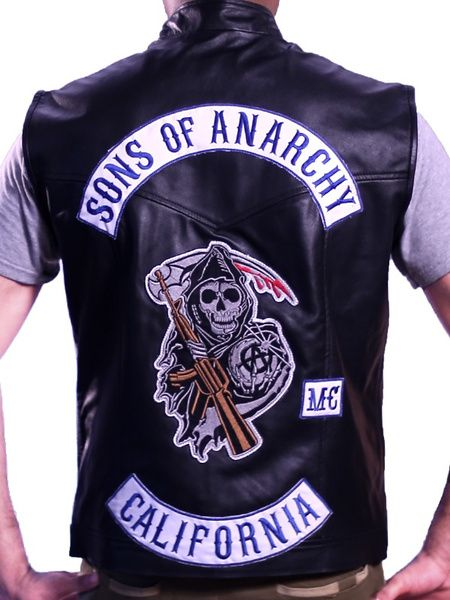 Soa Genuine Leather Biker Vest Jax Teller Wish Sons Of Anarchy Vest Sons Of Anarchy Leather Jacket