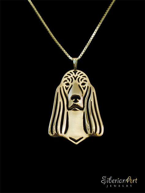 Irish Setter jewelry  gold vermeil 18k gold by SiberianArtJewelry, $120.00