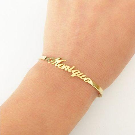 Buy V Attract Personalized Hand Link BFF Jewelry Kpop Custom Name Bracelets Bangles Women Men Bijoux Femme Gold Erkek Bileklik 2018