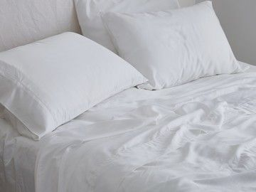Luxurious Organic Bamboo Sheet Set In Silver Most Comfortable