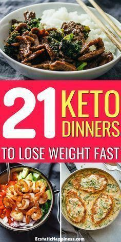 Easy keto dinner recipes to lose weight on a ketogenic diet. #keto #ketodiet #ketorecipes #ketogenic #ketogenicdiet #dinner #dinnerrecipes #KetogenicMeals