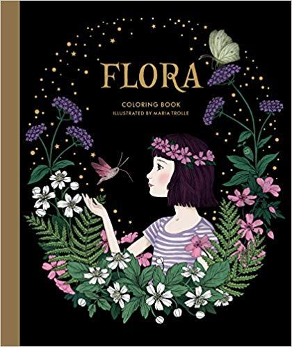 Flora Coloring Book Maria Trolle 9781423653554 Amazon Com