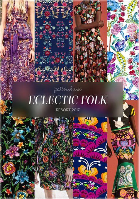 Eclectic Folk » Roberto Cavalli / Vk80 3 by Victoria Krupp / Cynthia Rowley / Palampore by Priyanka Java / Woodland Folk Floral by Nikki Strange / Phillip Lim / Folk Fan by Duda van den Berg / Cynthia Rowley