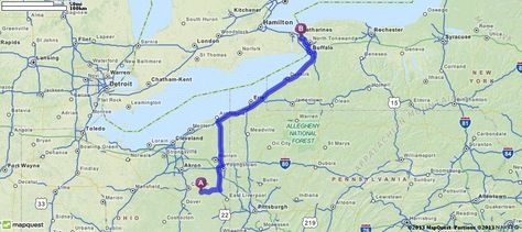Driving Directions From Minerva Ohio To Niagara Falls
