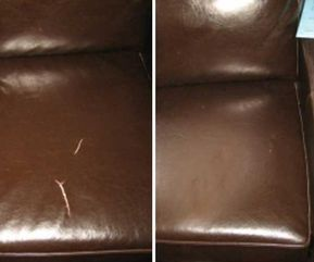 Fix Tears On Leather And Vinyl In A Few Minutes Leather Couch Repair Leather Repair Faux Leather Couch