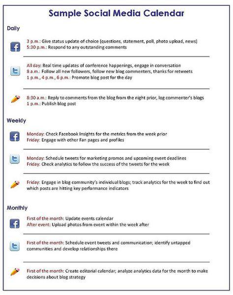 Facebook Business Content Calendar Cheat Sheet And Template