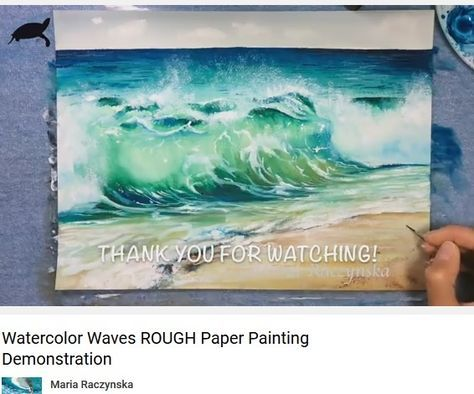 Vagues A L Aquarelle Maria Raczynska Watercolor Video