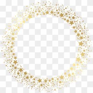 Stars Star Goldstars Gold Wreath Frame Border Circle Of Gold Stars Hd Png Download Gold Circle Frames Circle Frames Gold Frame