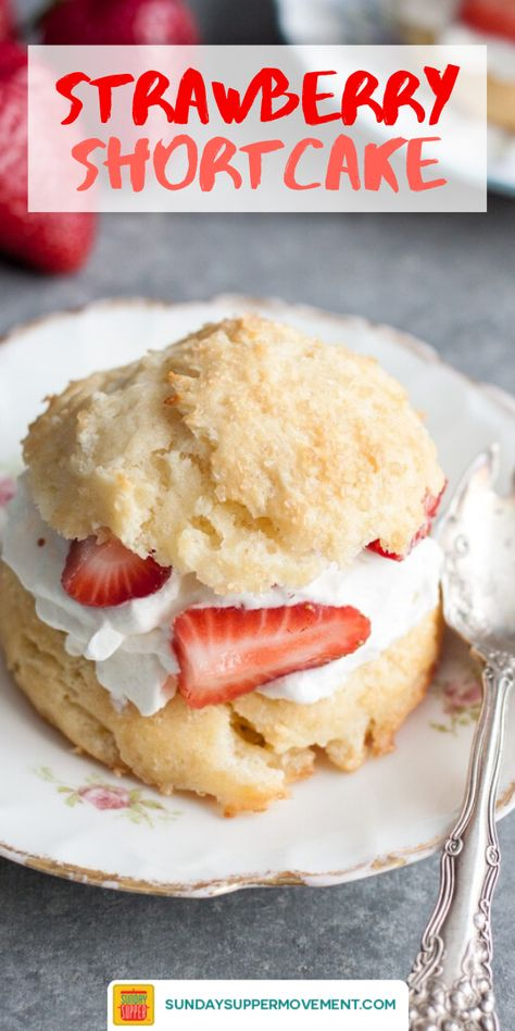 Don't go through summer without making this easy strawberry shortcake recipe! Our scrumptious Homemade Strawberry Shortcake Biscuits are filled with a simple whipped cream recipe and sweet, fresh strawberries. They will make you swoon with just one bite! Biscuits For Strawberry Shortcake, Shortcake Recipe Easy, Shortcake Biscuits, Bisquick Shortcake Recipe, Healthy Strawberry Shortcake, Strawberry Breakfast, Strawberry Preserves, Strawberry Filling, Fresh Strawberry Recipes