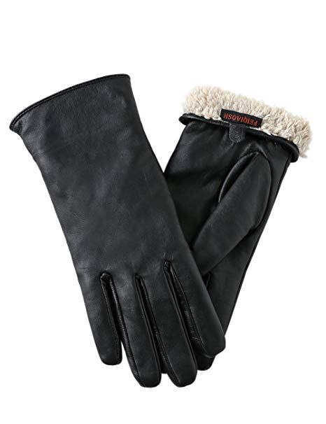 Womens Touch Screen Leather Gloves Fashion Winter Warm Soft Driving Gloves New