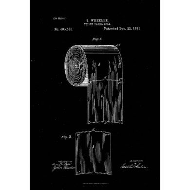 Toilet Paper Roll Patent Print Black Poster Zazzle Com In 2020 Patent Art Prints Patent Prints Patent Art