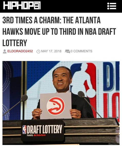 #ICYMI 3rd Times a Charm: The @ATLHawks Move Up to Third in NBA Draft