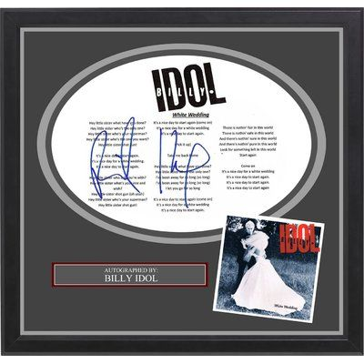 Luxewest Billy Idol White Wedding Autographed Lyric Collage With Images Billy Idol White Wedding Wedding Lyrics Billy Idol