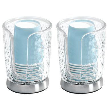 Disposable Paper Cup Dispenser Holder For Bathroom Textured