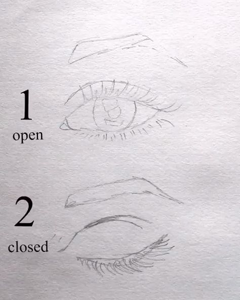 #surelysimpleblog eye drawing video ~ open and closed eyes