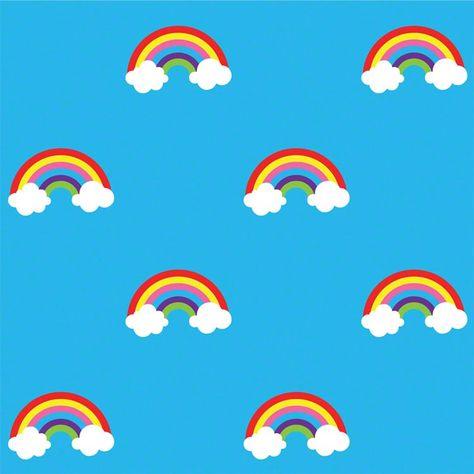 WallCandy Temporary Wallpaper in Rainbows (Blue)