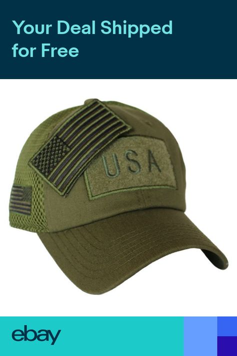 832d8442f84 Olive Drab US American Flag Patch Baseball Hat Tactical Operator Military  Cap