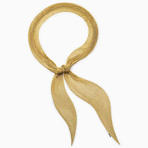 Elsa Peretti® Mesh scarf necklace in gold, large.