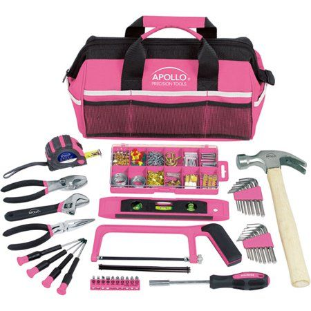 WORKPRO 103-Piece Pink Tool Kit Hand Tool Home Maintenance Set with Pouch