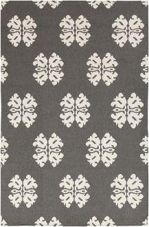 charcoal grey modern rug