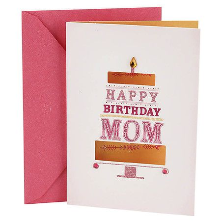 Hallmark Birthday Card For Mom Pink And Gold Cake Hallmark Birthday Card Birthday Cards For Mom Hallmark Cards Birthday