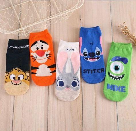 Disney Ankle Socks Women Kids Sneakers Mickey Zootopia Toystory Low21 21 Pairs