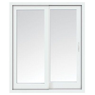 Stanley Doors 72 Inch X 80 Inch Glacier White Right Hand Sliding Low E Vinyl Patio Door With Screen Handle Set Sliding Patio Doors Patio Doors Stanley Doors