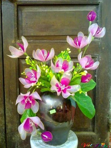 Mẫu hoa lan bằng vải voan mới nhất đẹp nhất đây! | Vải voan, Hoa ...