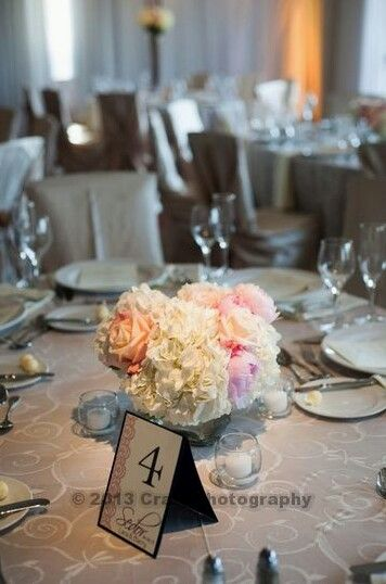 Reception Design Renaissance Wedding Simple Flowers Flower Centerpieces Table Numbers Elegant Tables Receptions Planning
