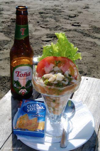 Ceviche Y Cerveza Ceviche Es Un Plato Tipico De Nicaragua Cabbage Salad Fried Pork Ceviche