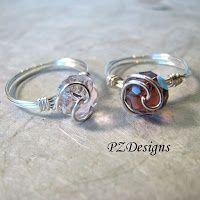 diy wire jewelry tutorials | PZ Designs - Handmade Jewelry: DIY: Simple Wire-Wrapped ... | Jewelry