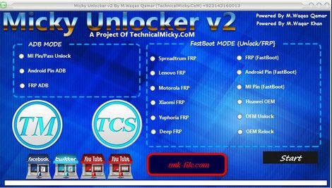 Download Micky V2 Unlocker Tool All Android Frp Unlock Tool How