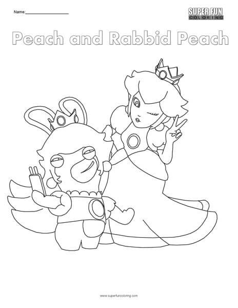 Google Image Result For Https Superfuncoloring Com Wp Content Uploads 2017 09 Peach And Peach Rabbid Coloring Page Jpg Coloring Pages Color Image