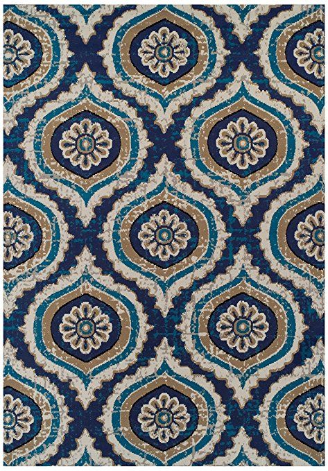 Large Rugs For Living Room 8x11 Turquoise Blue Beige Navy Gray